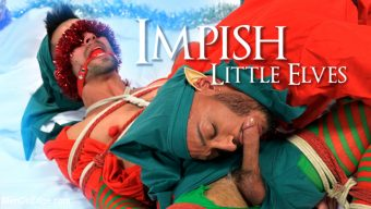 Casey Everett – Impish Little Elves: Casey Everett Edged by Santa and his Lil Helper