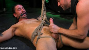 Kinky Viktor – Kinky Viktor: New Sub Bound, Roped, Edged and Shoots A Fat Load