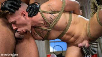 Sharok – Bound Initiation: Sharok Breaks in New Fraternity Pledge Zak Bishop
