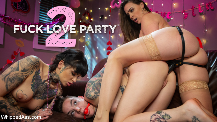 Chanel Preston – Fuck Love Party 2: Leigh Raven and Chanel Preston Devour Nikki Hearts_cover