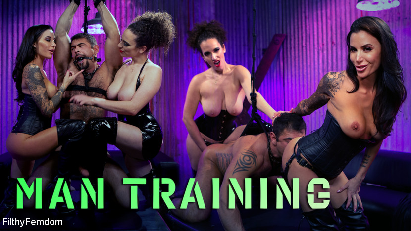 Gia DiMarco – Man Training: Gia Dimarco and Mistress Blunt Dominate Clueless Man_cover