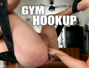Alex Hawk, – Gym Hookup: Newcomer Luke Hudson Fists Alex Hawk