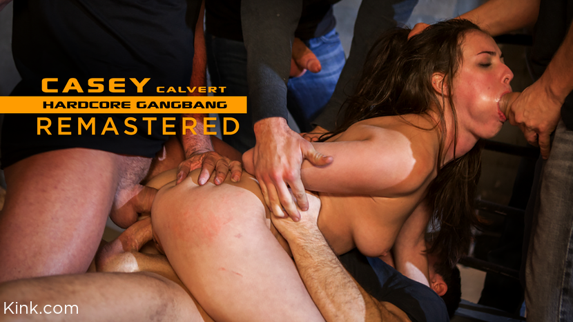 Casey Calvert, – Casey Calvert Lives out her Gangbang Fantasy! First Gangbang,First Dp!_cover
