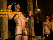 Josh West, – Bryan Cole: Hot Stud Is Tied Up and Fucked in Front of 100 Horny Men